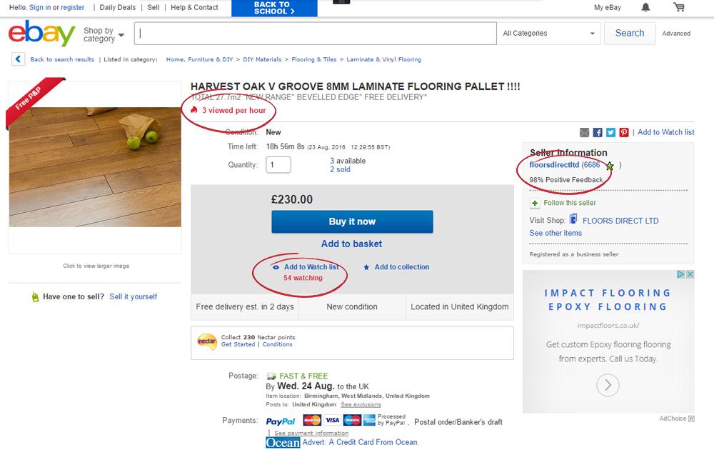 ebay shop snapshot